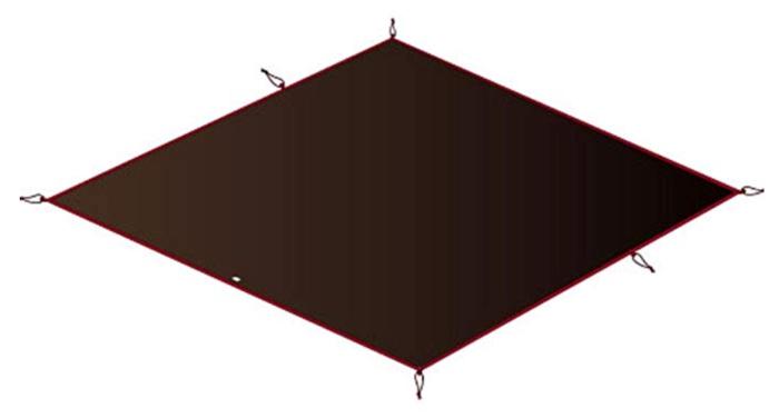 スノーピークのアメニティドーム用フロアシート