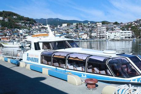 ペンションSIOSAIの近くから乗れる真鶴港遊覧船