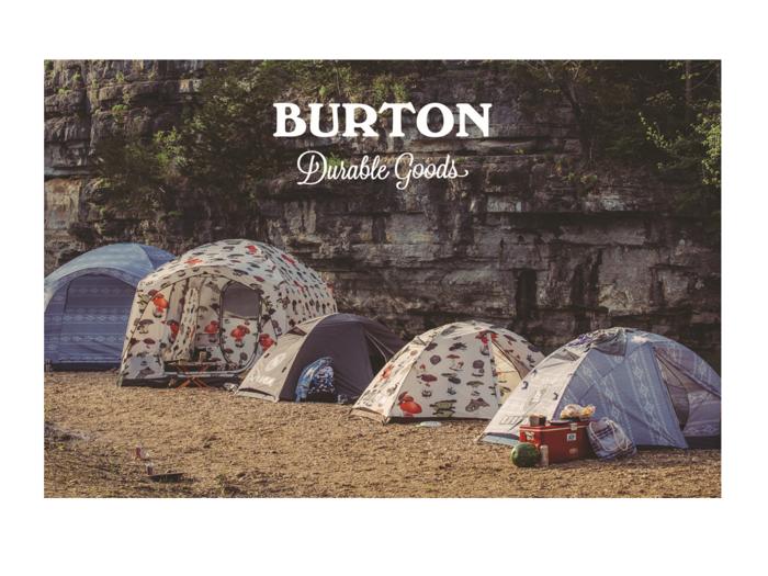 バートンのテントの様子