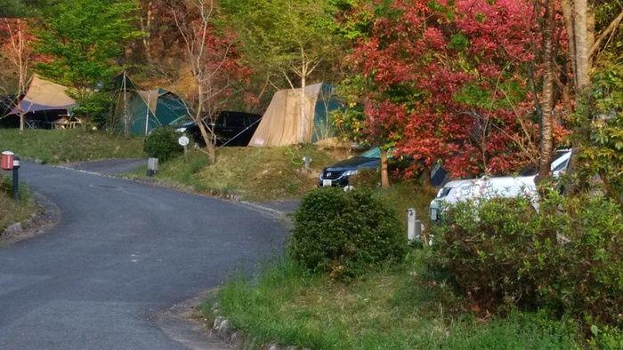 十種ヶ峰ウッドパークオートキャンプ場でのキャンプの様子