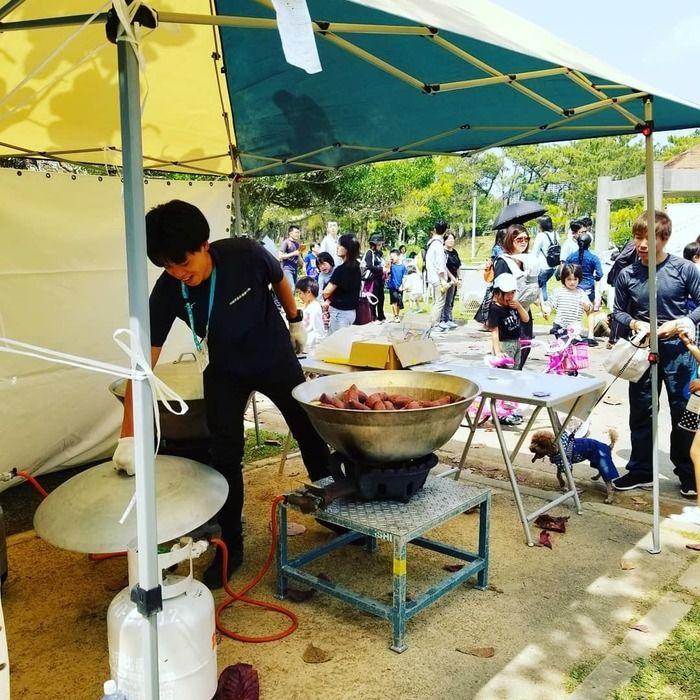 沖縄県総合運動公園オートキャンプ場の様子