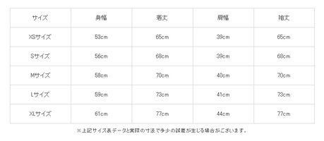 ラッセルのサイズ表