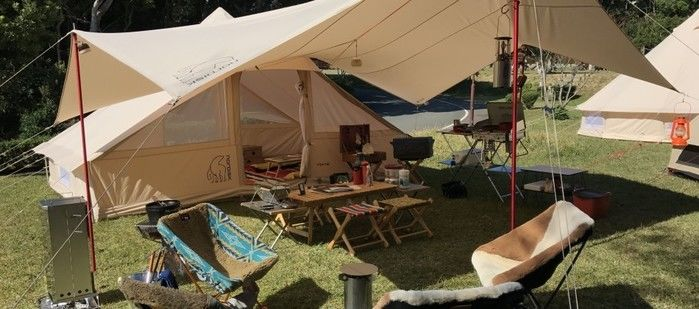 志摩オートキャンプ場でのキャンプの様子