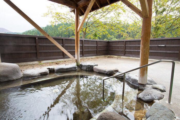 六郷温泉あったか山の露天風呂の写真