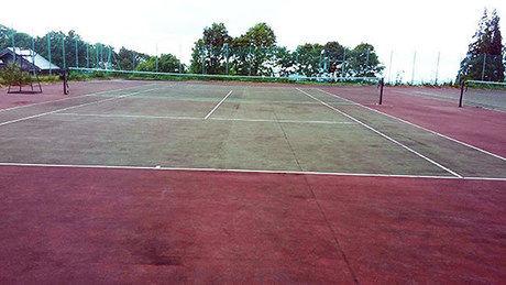 妖精の森キャンプ場のテニスコートの写真