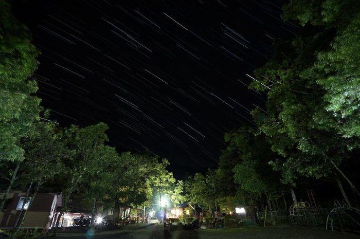 篠沢大滝キャンプ場の星空