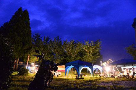 大山池野営場のキャンプサイト