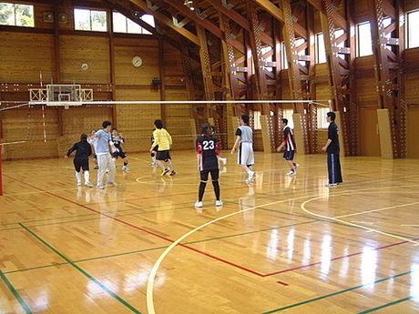 マキノ高原キャンプ場の体育館