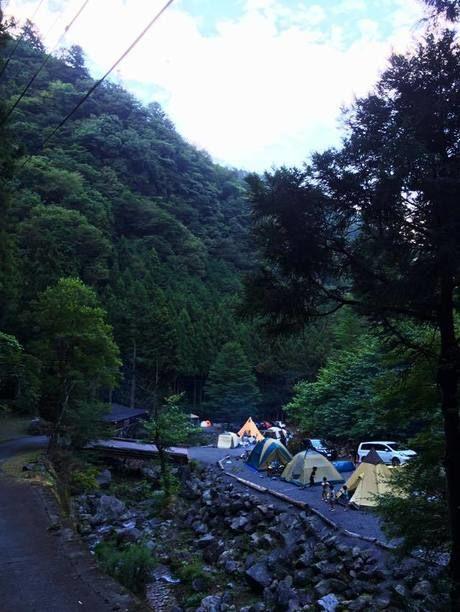大岳キャンプ場上流サイト