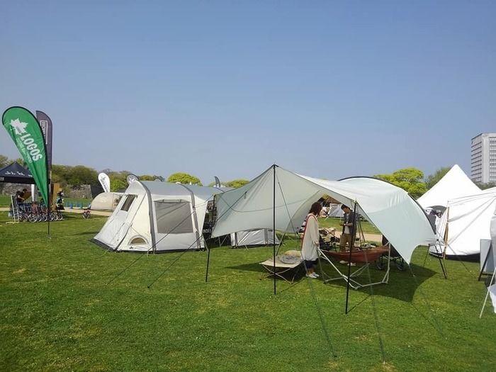 ピクニカ共和国でのキャンプの様子
