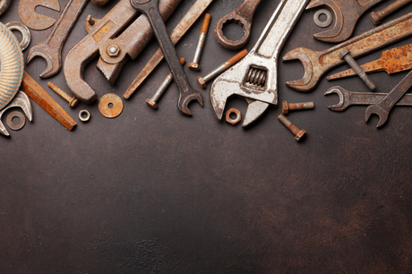 錆びた鉄工具