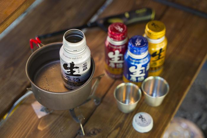 生原酒ボトル缶の熱燗