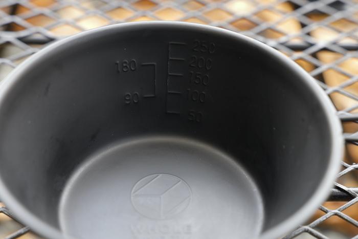 シェラカップの目盛り