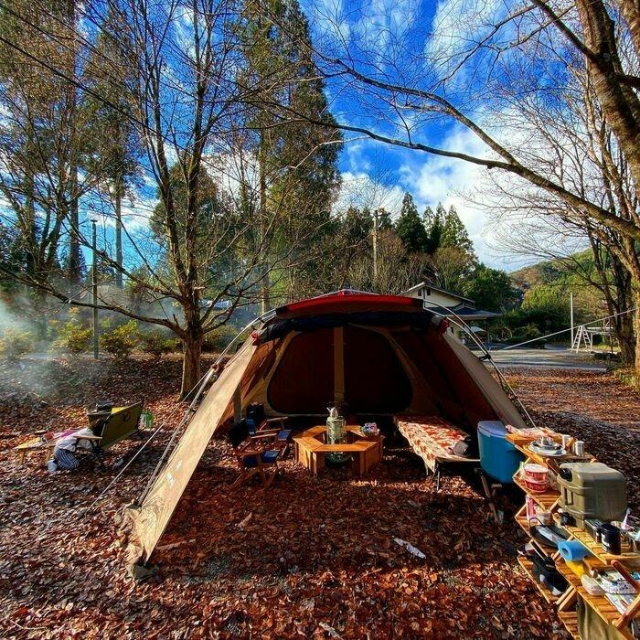 スノーピークのテント「ランドロック」のアレンジ例2