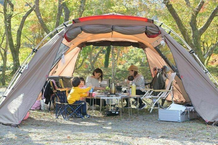 スノーピークのテント「ランドロック」のアレンジ例4