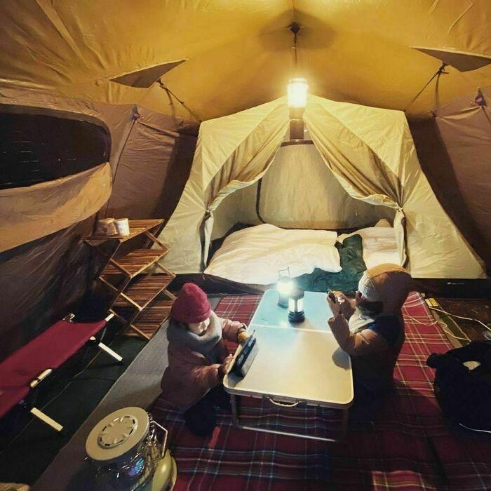 スノーピークのテント「ランドロック」のアレンジ例6