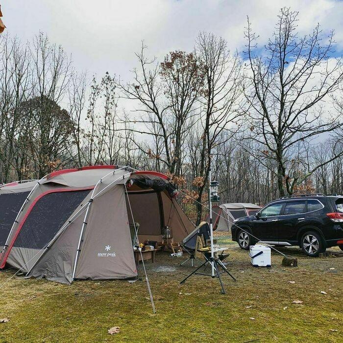 スノーピークのテント「ランドロック」のアレンジ例7
