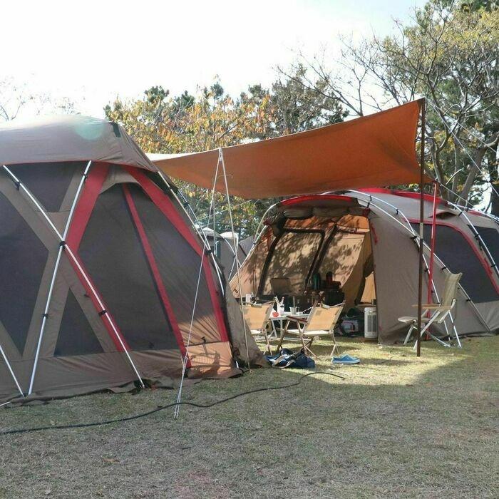 スノーピークのテント「ランドロック」のアレンジ例8