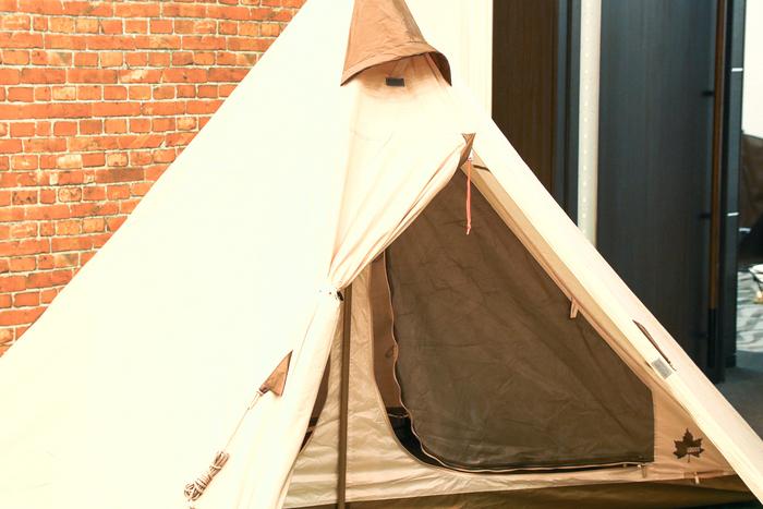 テントの正面