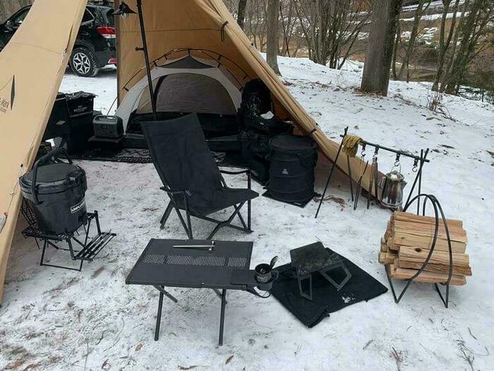 雪中ソロキャンプ