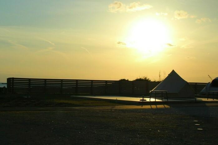 ブリーズから見た夕日