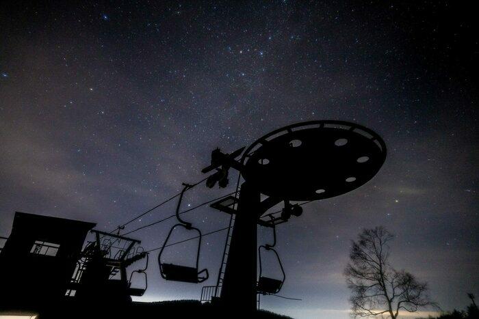 キャンプ場から見られる星々