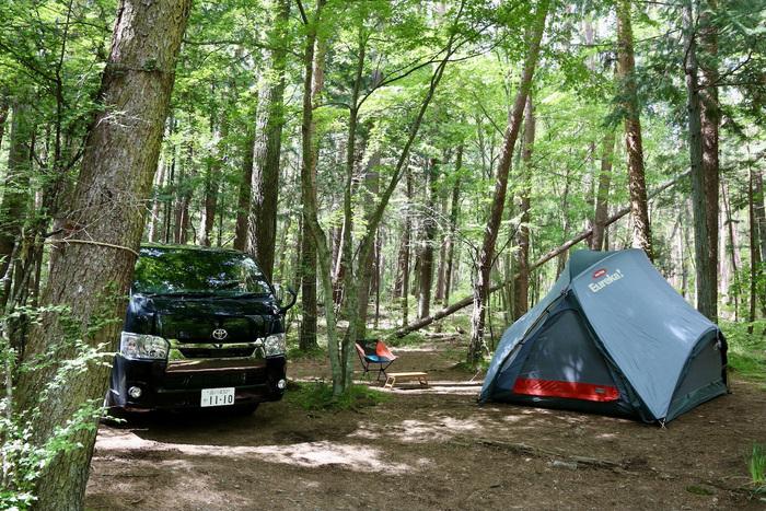 河口湖オートキャンプ場キャンプサイト