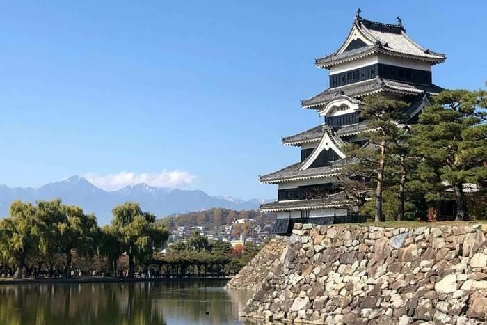 松本市内にある国宝 松本城