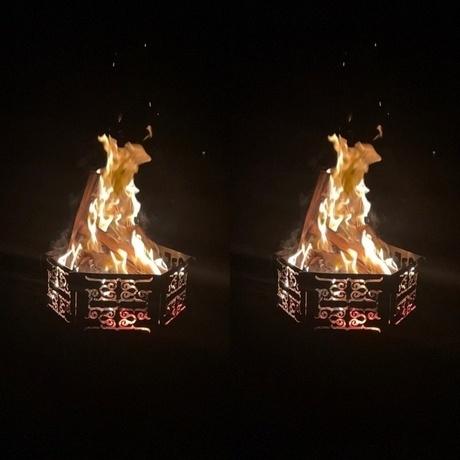 アイヌ文様 焚き火台