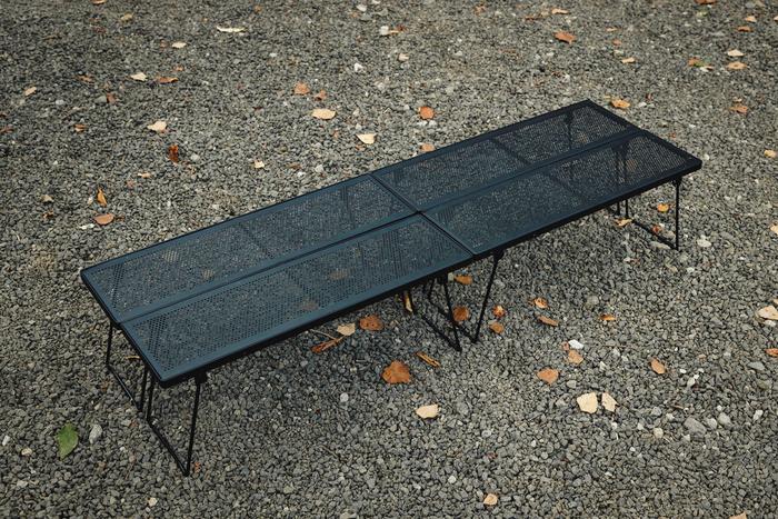 バーベキューグリル×マルチイロリテーブルで作るロースタイルキャンプ