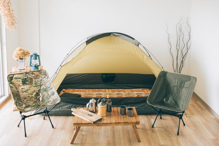 自宅にあるキャンプ道具