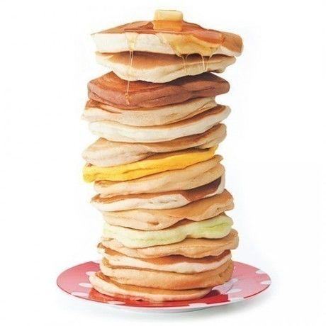 パンケーキミックスで作った15段パンケーキ