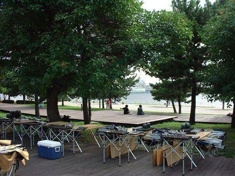潮風公園のバーベキュー場