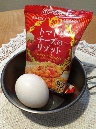 ドライフードと卵