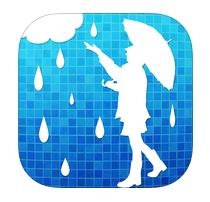 雨かしら?地図から見る天気予報アプリのアイコン