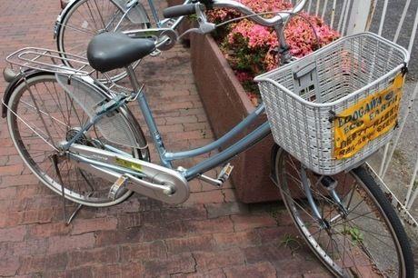 JR小岩駅の駐輪場で借りた自転車