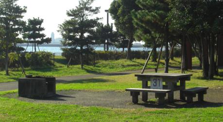 城南島海浜公園のBBQスポット