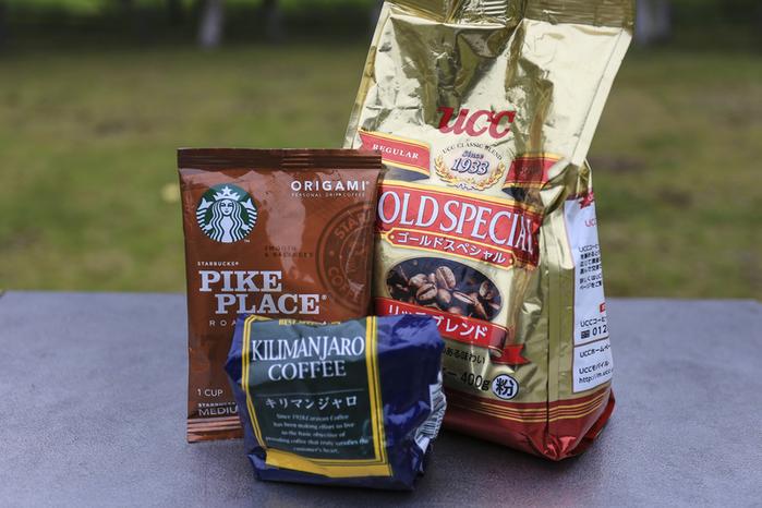コーヒー豆、粉