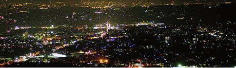 くりのきキャンプ場から見える夜景