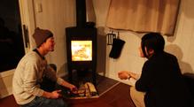 コテージの暖炉