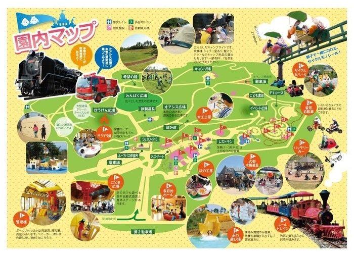 「鳥取砂丘こどもの国」の園内地図