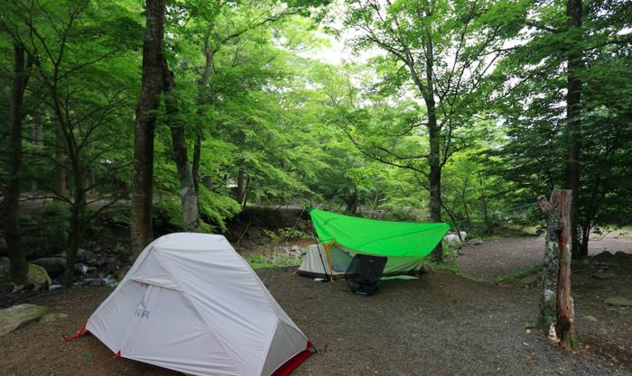 道志の森キャンプ場のソロキャンプの様子