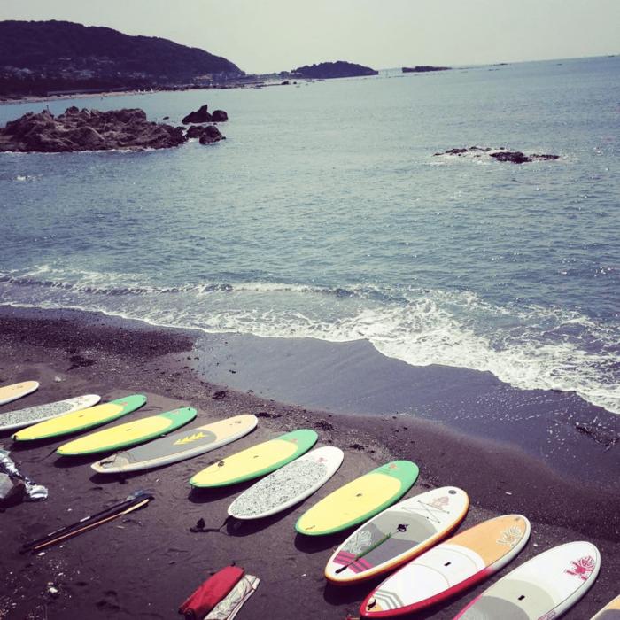 葉山の海とSUP