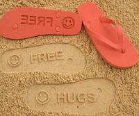 freeとメッセージが書けるFlip Sidezのビーチサンダル