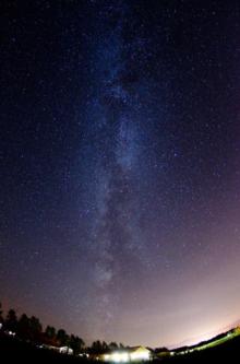 星に手のとどく丘キャンプ場の美しい星空