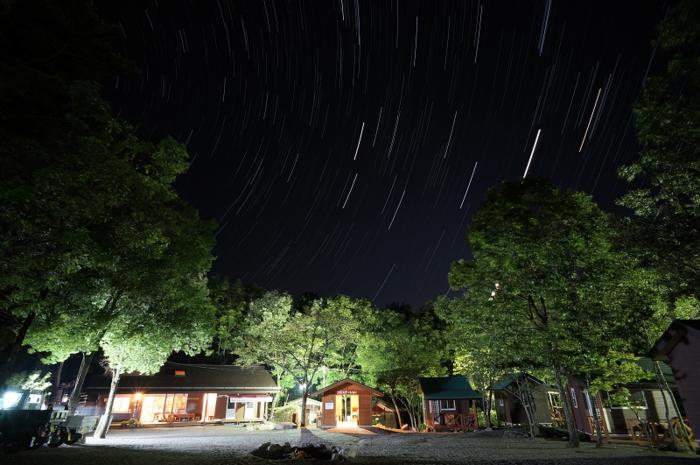篠沢大滝キャンプ場で見れる星空