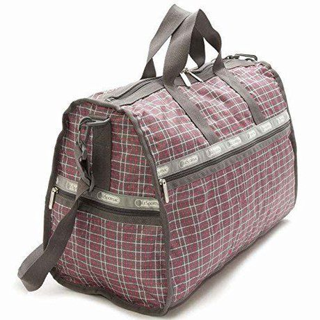 LeSportsacの7185-D615 Large Weekender TATTERSAL GREY