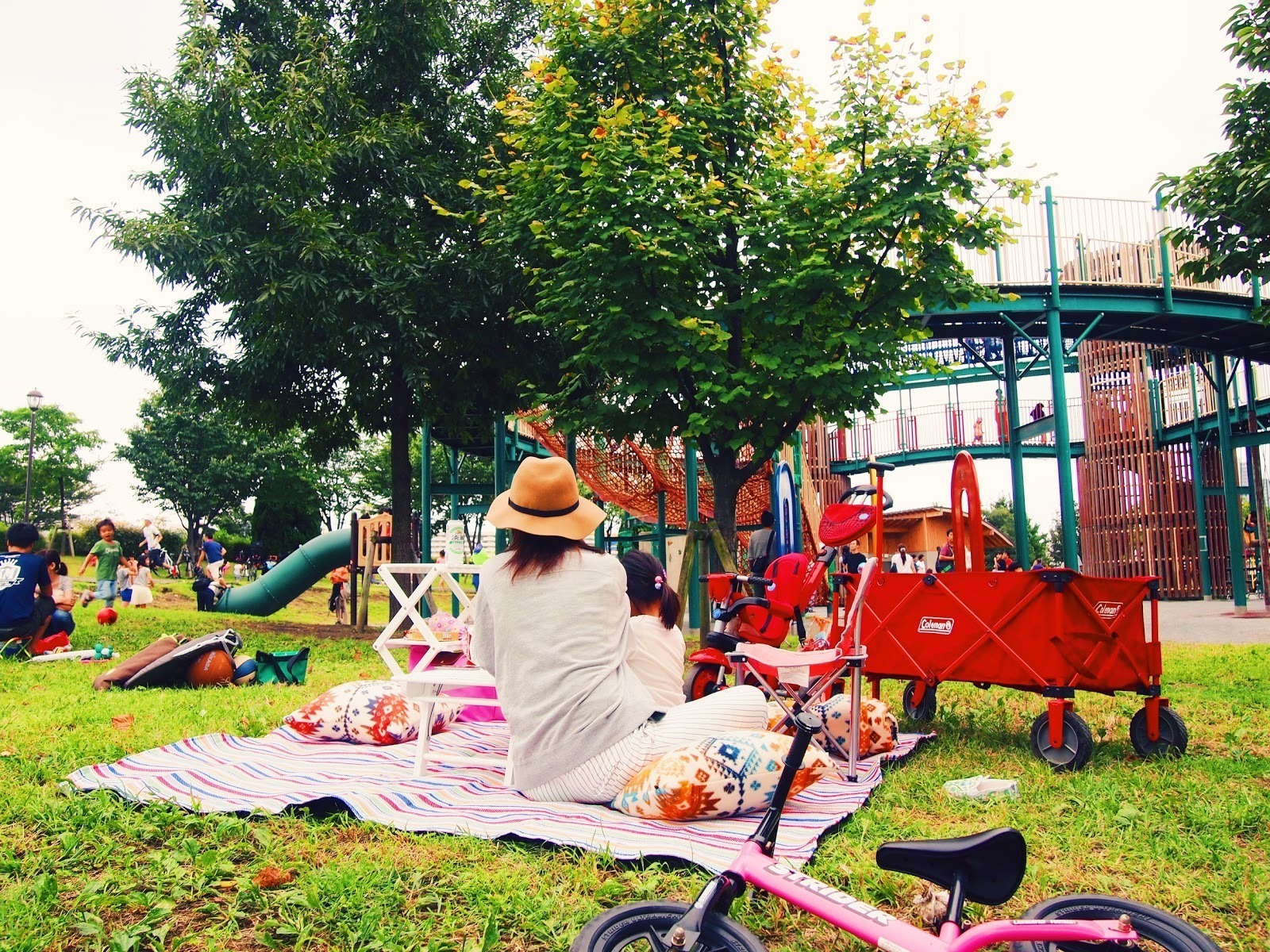 汐入公園,ピクニック,家族,アーバンアウトドア