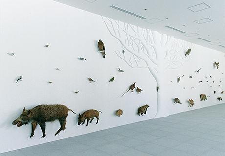 TAKAO599MUSEUMの室内の壁