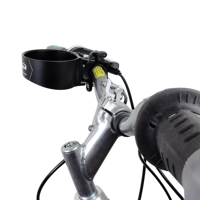 自転車につけたドリンクフォルダー